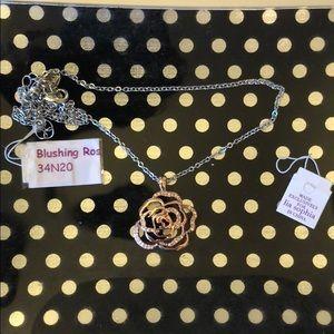 "Lia Sophia ""Blushing Rosette"" necklace"